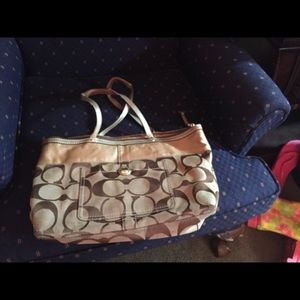 Coach Purse -  Medium - Brown C's/Tan Bag